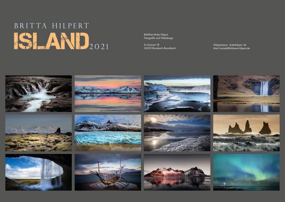 Wandkalender Island Monatsbilder
