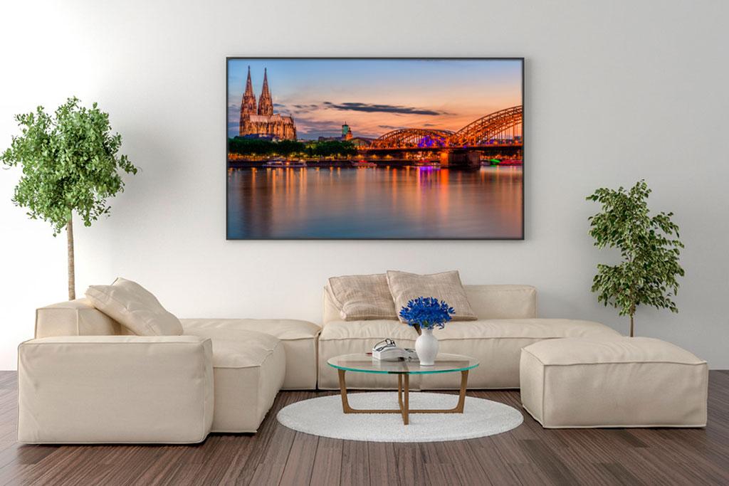 Wandbild: Köln Stadtansicht bei Sonnenuntergang