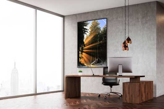 Wandbild Alu Dibond: Sonnenstrahlen im Westerwald
