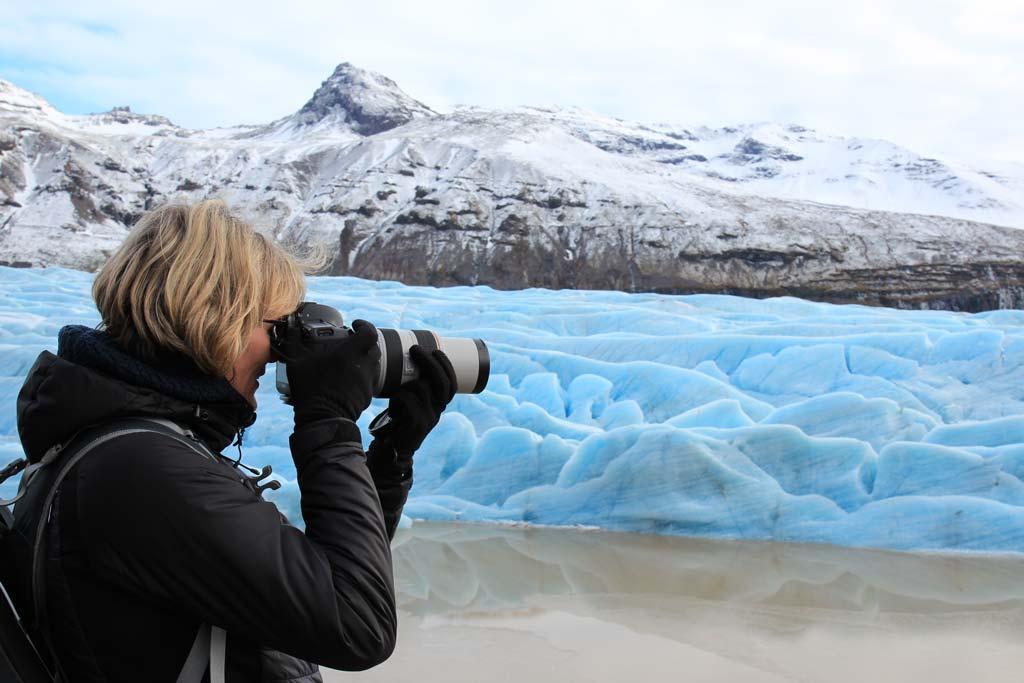 Landschaftsfotografin Britta Hilpert in Island.